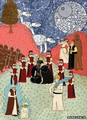 Star Wars depicted as an Ottoman miniature