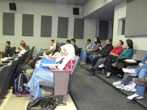 Students at University of Iowa listen to presentations on Islam and Science