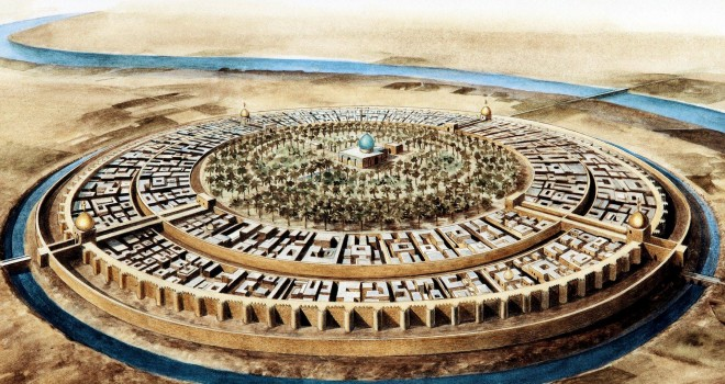 The round city of Baghdad in the 10th century